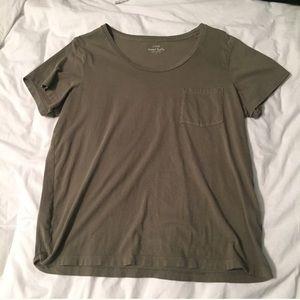 J crew olive pocket t shirt